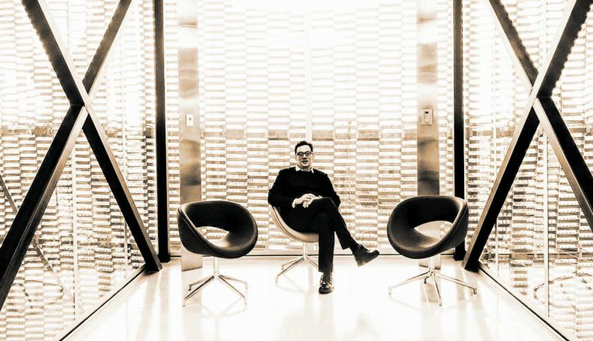 Giancarlo Mazzanti en la Fundación Santa Fe, uno de sus proyectos.