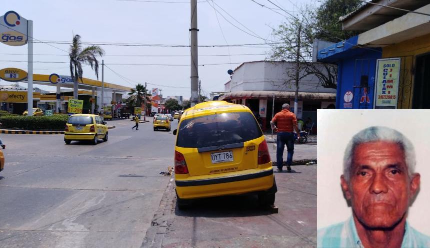 Al mecánico Sepúlveda le cayó un taxi en su abdomen mientras lo examinaba.
