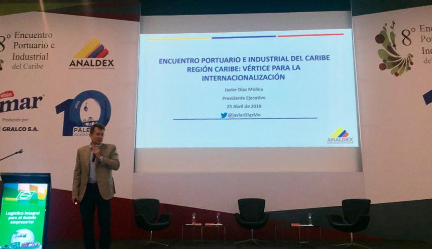 El presidente de Analdex, Javier Díaz, en el encuentro realizado en B/quilla.