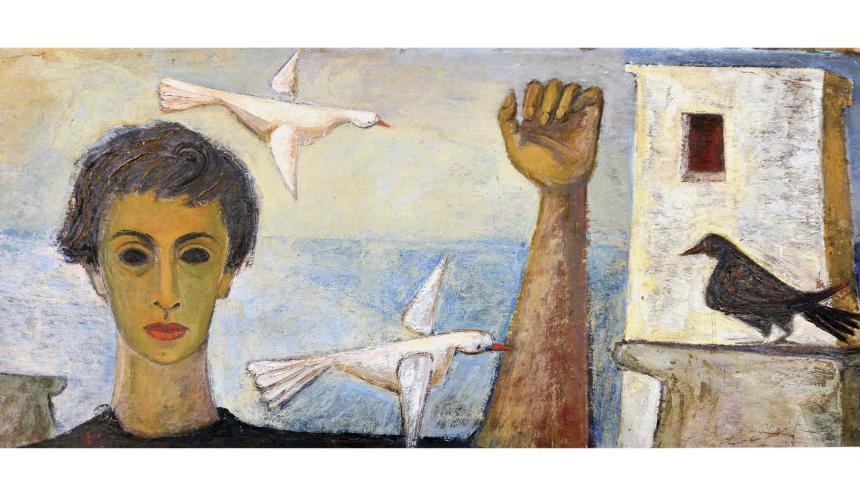 Título de la obra: 'Cecilia y los pájaros'.