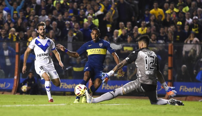 Sebastián Villa, jugador de Boca Juniors.