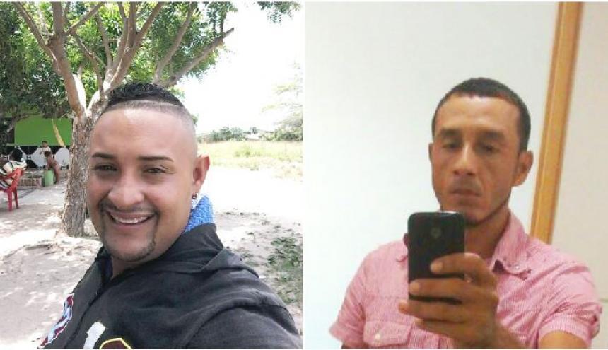 Javier Díaz Rivera (i) y Marcel Enrique Maldonado Torres (d), dos de las tres víctimas mortales.