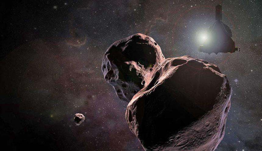 Así se vería el asteroide Ultima Thule en el espacio.