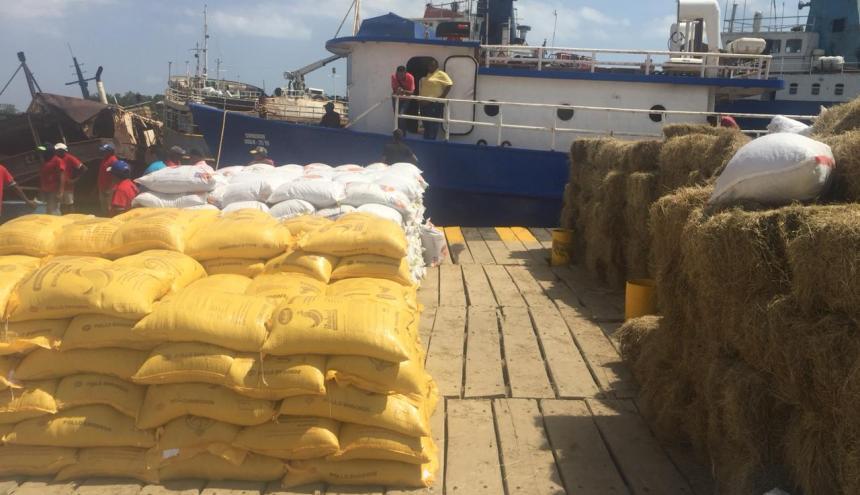 Los productos cuando salían de puerto nuevo hacia Curazao.