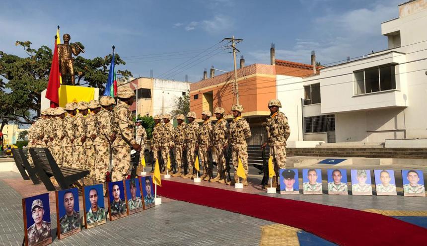 Homenaje el pasado 21 de mayo a los militares muertos en la emboscada por parte del Ejército hace 7 años.