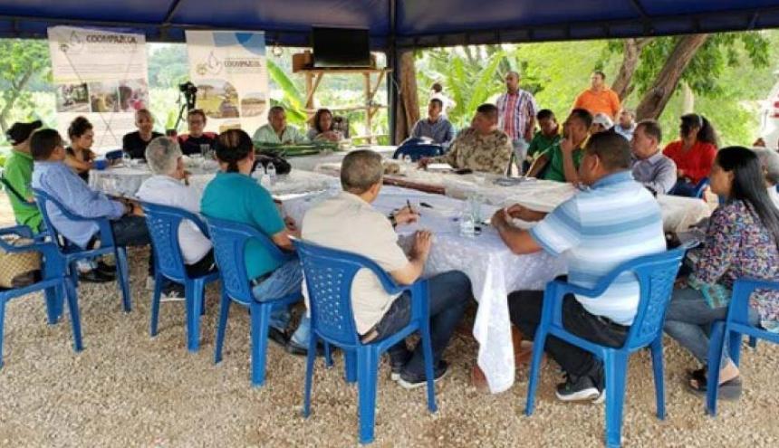 Uno de los Espacios Temporales de Capacitación y Reincorporación, ETCR, de la Costa Caribe.