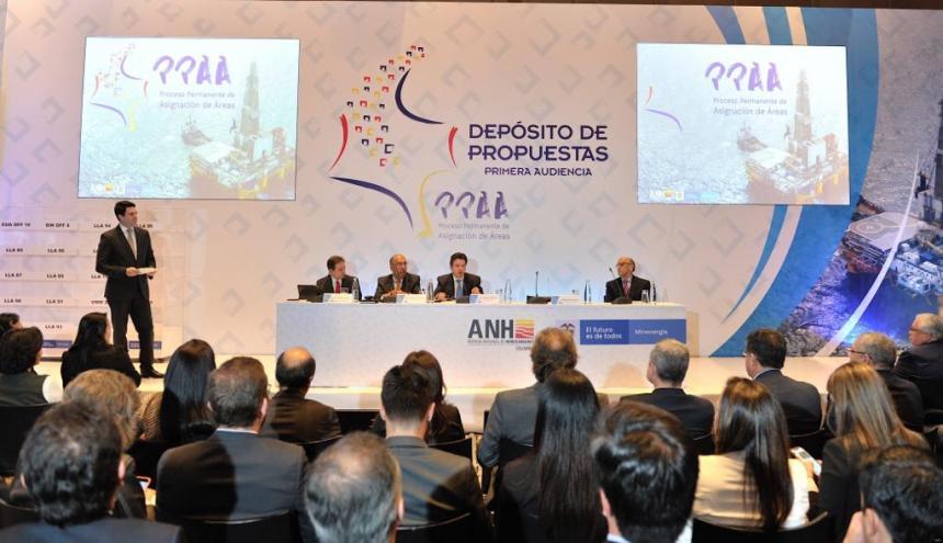 Depósito de propuestas del Proceso Permanente de Asignación de Áreas de la ANH.