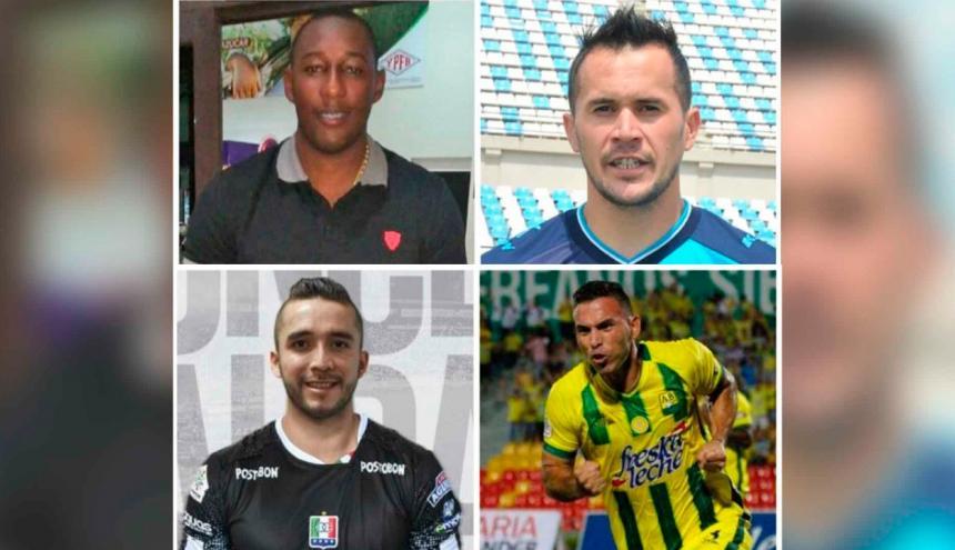 Dairin González, Horacio Ramírez, Jean Carlos Blanco y Henry Pernía.