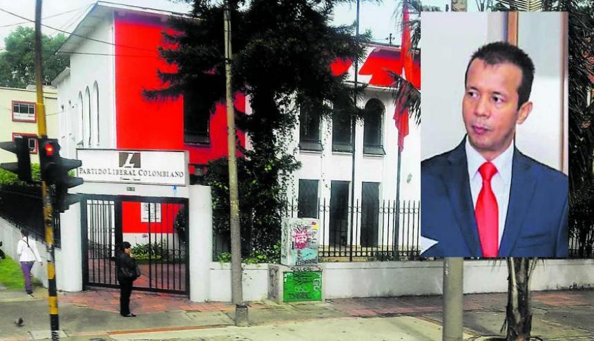 Fachada de la sede del Partido Liberal en Bogotá.