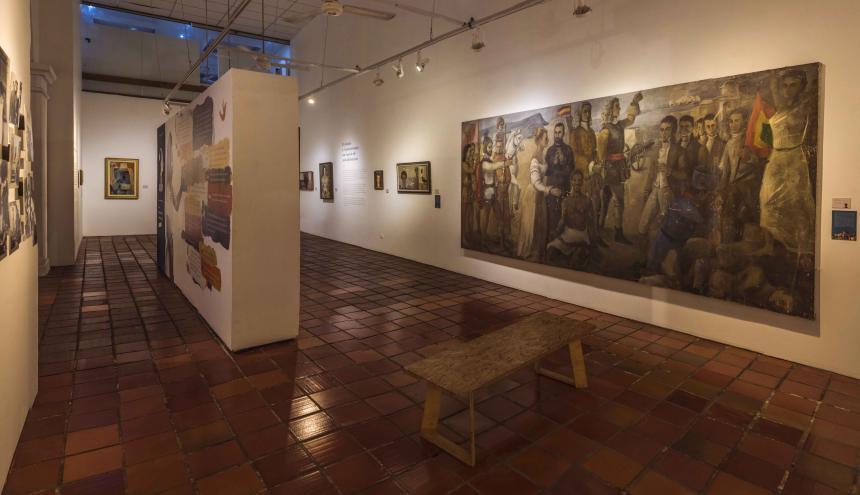 Aspecto de la exposición de arte 'Fragmentos de modernidad' en Cartagena.