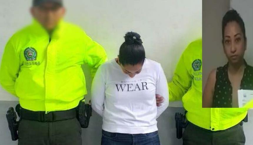 Andrea Juliana Herrera, la mujer capturada por la Policía Metropolitana.