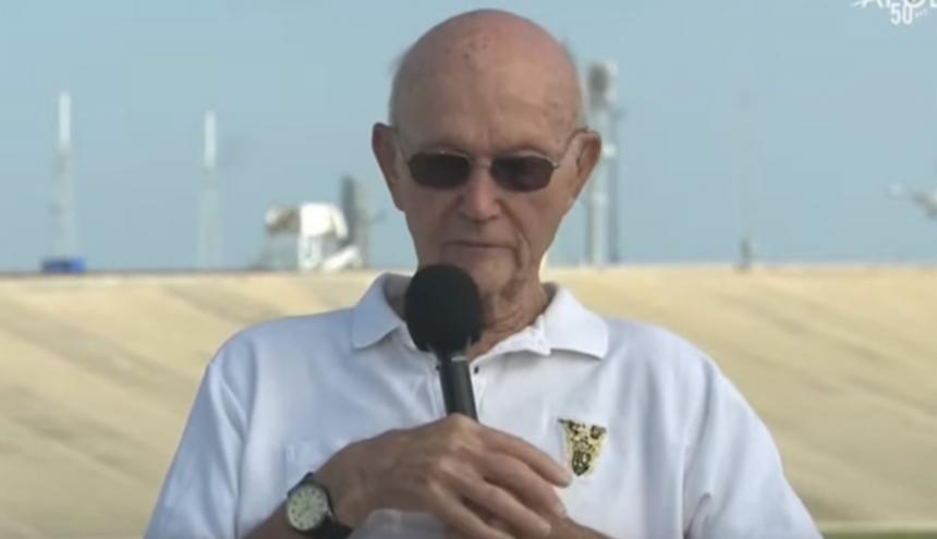 Michael Collins, el tercer hombre en pisar la luna.