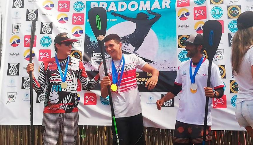 Omar Castro, Felipe Marthe y David Ibern, del Atlántico.