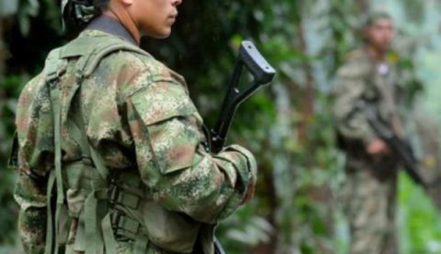 Un miembro del Ejército Nacional de Colombia.