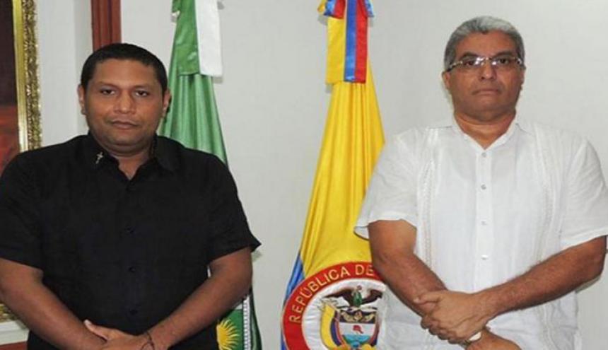Gobernador encargado Wilbert y secretario de Gobierno Jhon Fuentes.