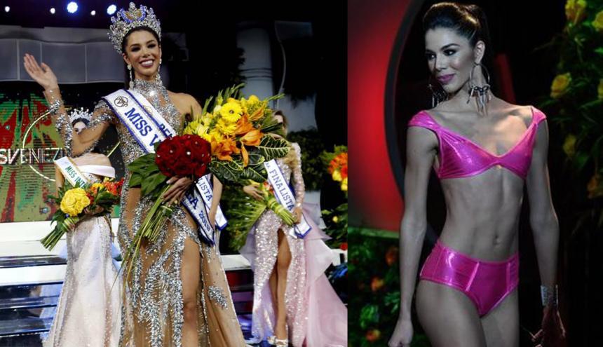 Thalía Olvino, de 19 años y estudiante de mercadeo, fue elegida el jueves Miss Venezuela 2019 y será la encargada de representar al país en Miss Universo de este año, cuya fecha de celebración se estima para el mes de diciembre.