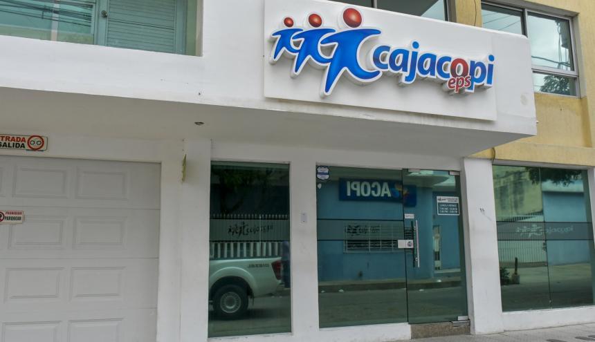 Fachada de una de las sedes de Cajacopi, EPS que presenta 81 quejas en lo que va del año.