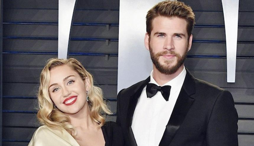 Miley Cyrus junto al que hasta hace solo un mes era su esposo, Liam Hemsworth.