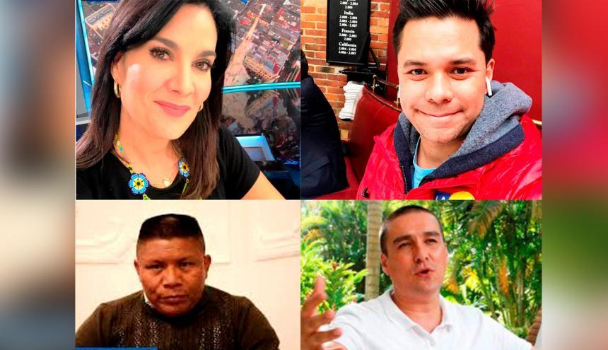 Los periodistas Vanessa de La Torre y Luis Carlos Velez, el caricaturista 'Matador' y el líder social Argemiro Bailarín, han sido objeto de amenazas.