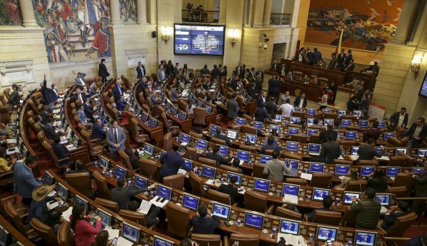 Aspecto de una sesión de la Cámara de Representantes.