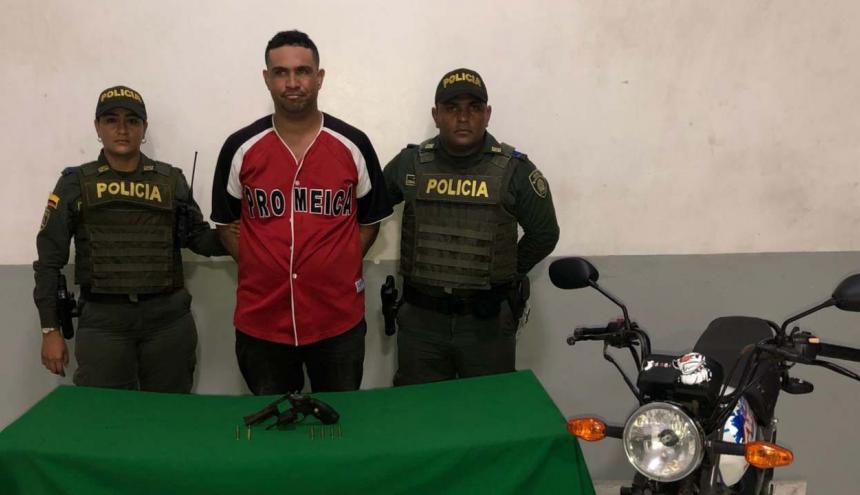 Tommy Javier Torrenegra Morrón, capturado.