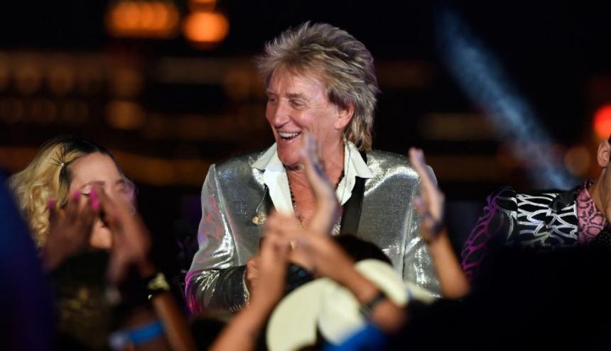 Rod Stewart, una de las estrellas del rock más famosas del Reino Unido.