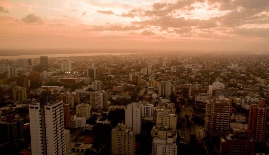Panorámica del norte de Barranquilla, la zona de mayor desarrollo urbanístico de la ciudad.