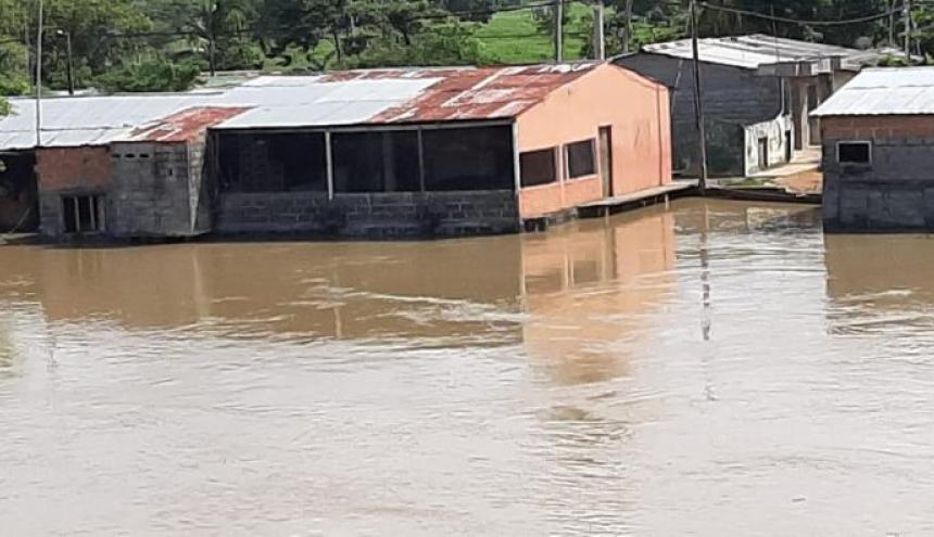 Aspecto de una población de Córdoba que sufrió inundaciones recientemente.