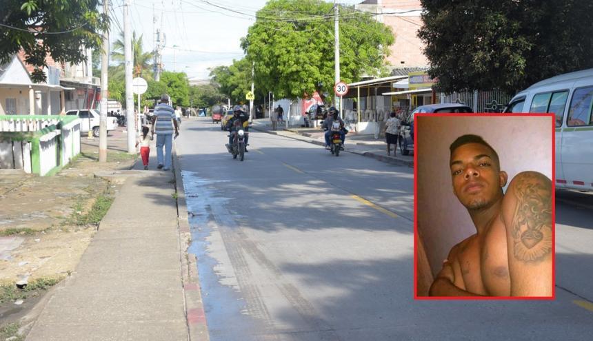 En este punto del barrio La Esmeralda ocurrió el ataque a bala en contra de Isaac Rafael Valdez Ortega (en el recuadro).