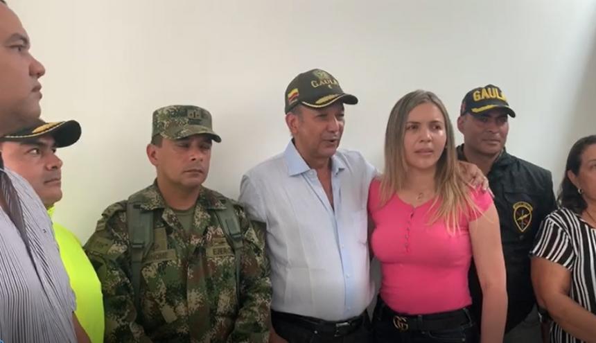 José Ramón Molina, dirigente gremial de La Guajira, horas después de ser liberado.