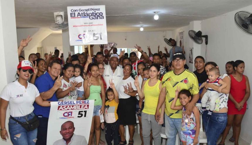 El diputado y candidato a la Asamblea Gersel Pérez, estuvo recorriendo el fin de semana varios municipios del Atlántico.