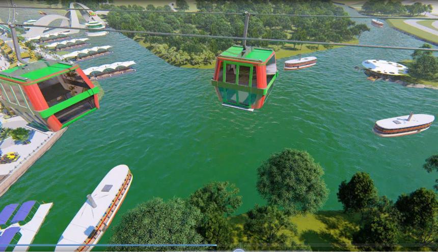 Catamaranes, teleférico, tiendas y diferentes marinas son algunos puntos de la propuesta para el Río.
