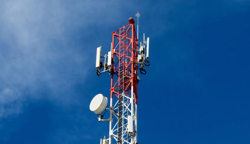 Una antena del sector de telecomunicaciones.