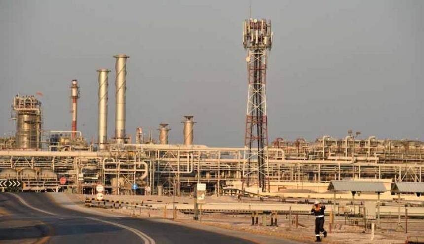 El yacimiento petrolero de Abqaiq, del grupo saudita Aramco, uno de los más criticados.