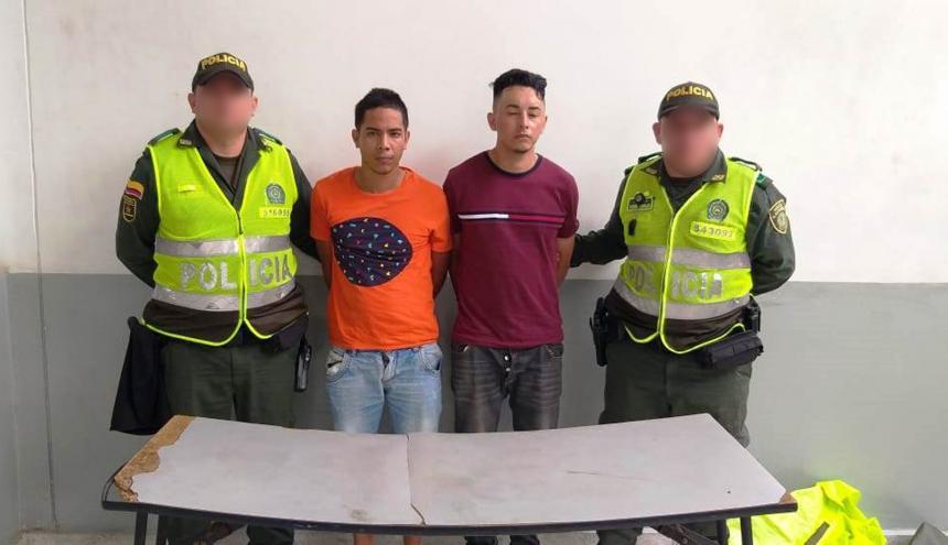 Darwin Alexander Gil Salas, de 25 años y Herson Luis López Martínez, de 22, capturados.