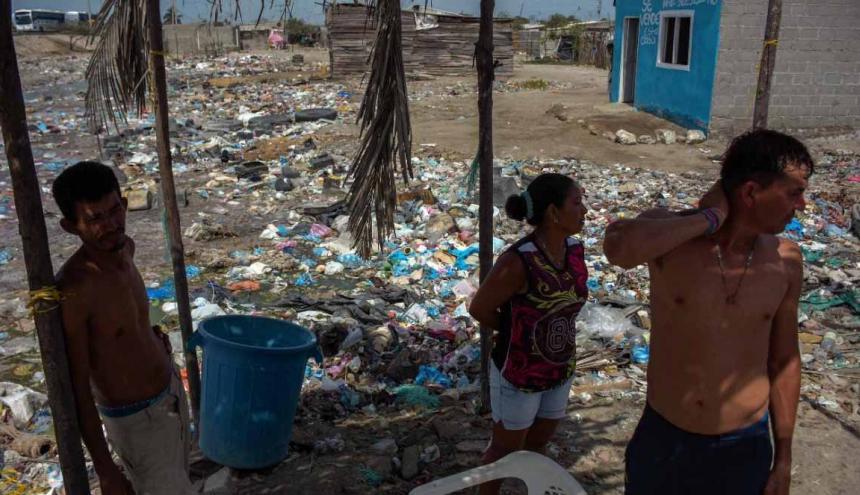 Tasajera, corregimiento del Magdalena, está ubicado entre Barranquilla y Santa Marta. Su pobreza extrema es más que notoria.
