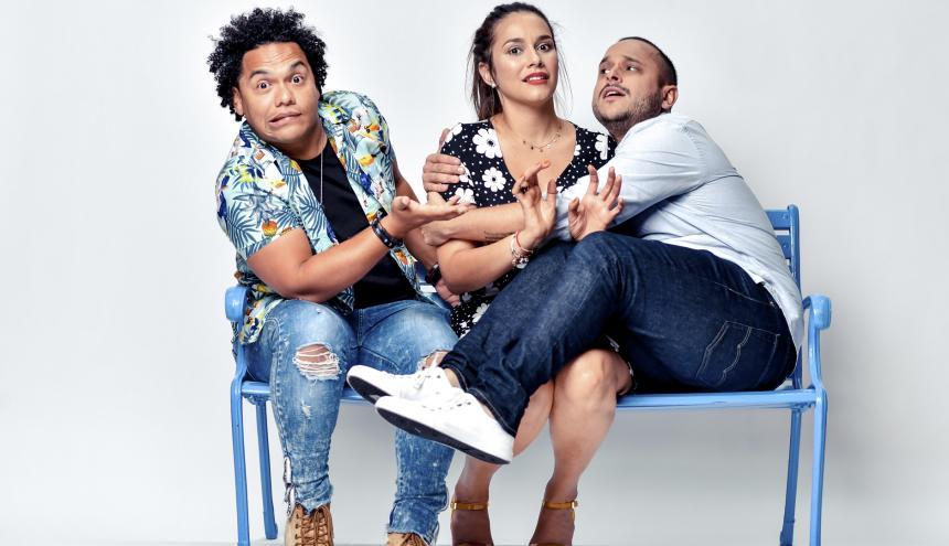 Damián Torres, Liliana Guihurt y Matthew Windey.