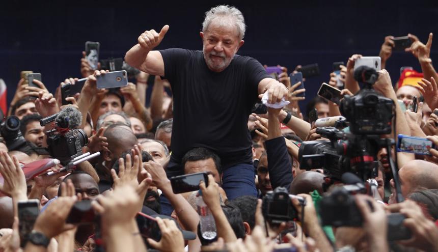 Lula da Silva en una manifestación de simpatizantes.