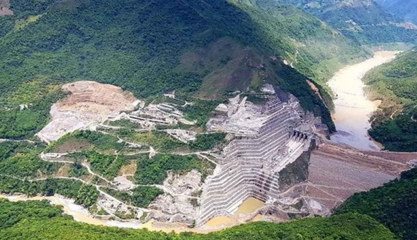 Hidroituango queda ubicada sobre el río Cauca.
