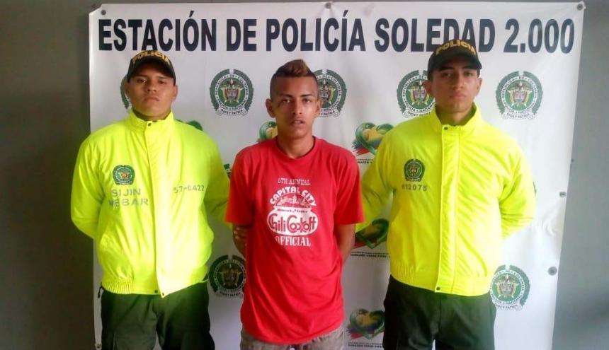 Jorge Luis Mejía Castro, alias Patico, capturado.