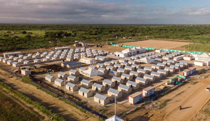 Centro de atención a migrantes en La Guajira.