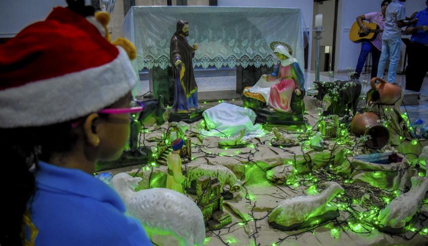 Los niños son protagonistas de la celebración en la Parroquia de Guadalupe.