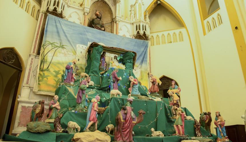 Las novenas hacen parte de las fiestas de fin de año en la Iglesia de San Roque.