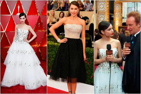 20e1039d Sofía Carson y Sofía Vergara llegaron, cada una por su lado, a la alfombra  roja de los premios Oscar. La primera (cuyos apellidos de pila son  Daccarett ...