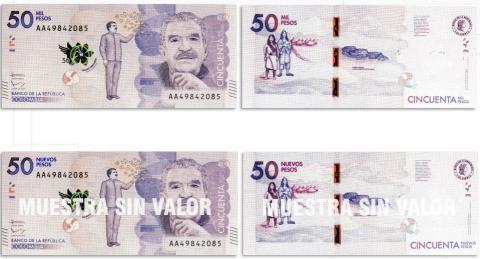 Este Es El Diseño Del Billete De 50 Nuevos Pesos Colombianos Cortesía