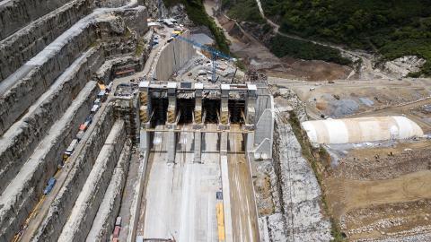 Las obras del proyecto energético Hidroituango avanzan con el ánimo de minimizar el riesgo.