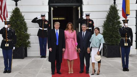09732dca2a La chaqueta de la primera dama de Colombia despertó fuertes críticas. AFP