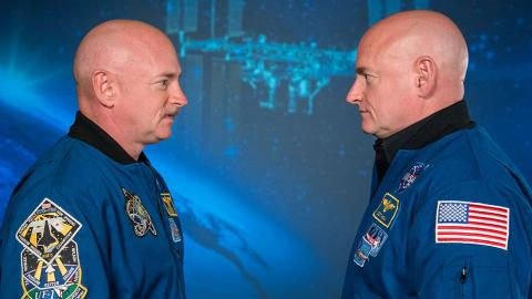 Astronautas gemelos: uno envejeció en el espacio