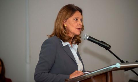 Marta Lucía Ramírez, vicepresidenta de Colombia, habló de las movilizaciones.
