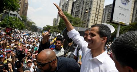Resultado de imagen para Guaidó llama a huelga general en Venezuela
